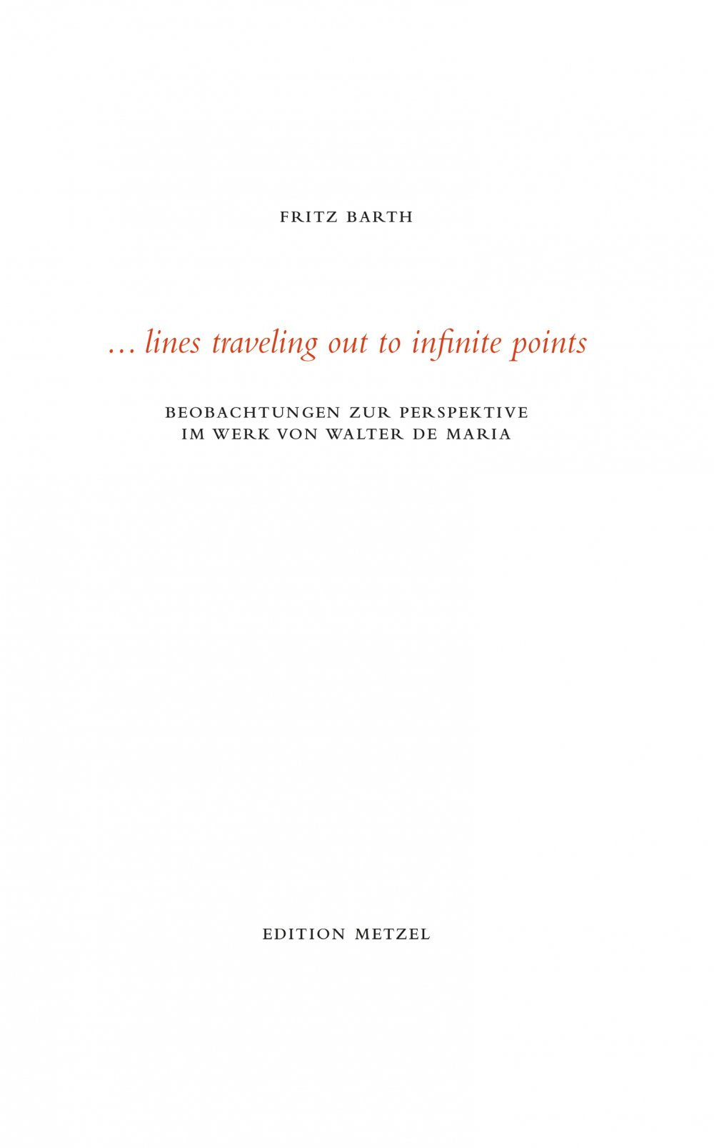 cover: ... lines travelling out to infinite points