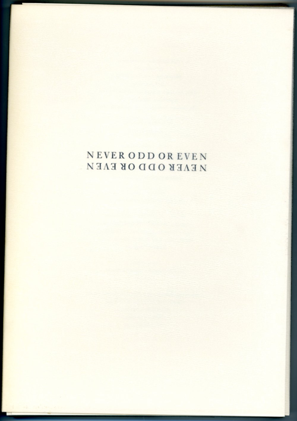 cover: NEVER ODD OR EVEN - Barbara Bloom