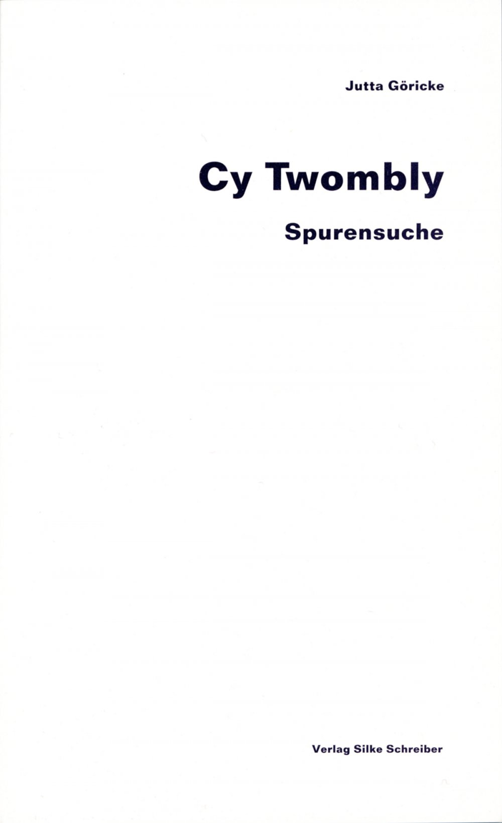 cover: Cy Twombly