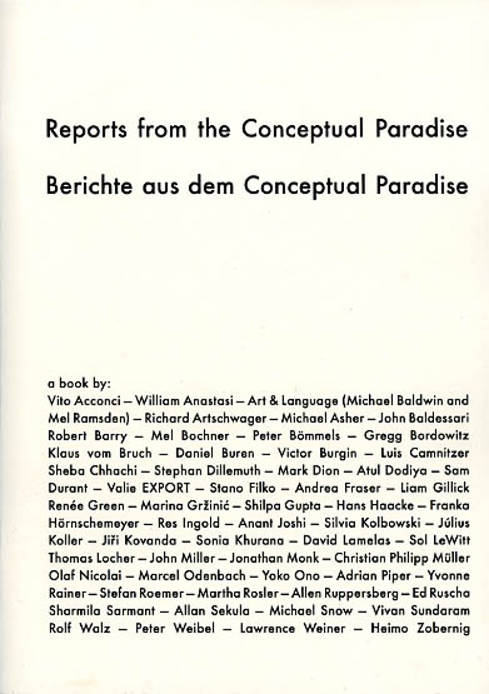 cover: Reports from the Conceptual Paradise